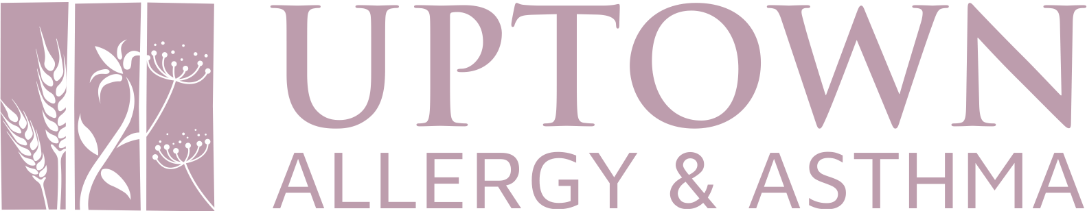 Uptown Allergy & Asthma logo horizontal pink