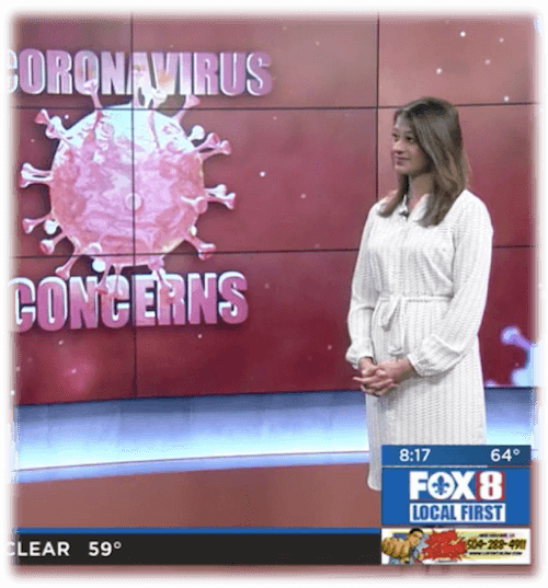 Immunologist Dr. Reena Mehta discusses coronavirus COVID-19 on New Orleans Fox 8 News